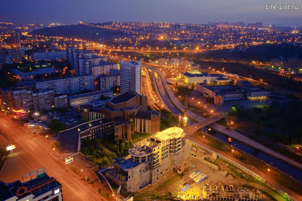 центр Красноярска фото Виталий Караван с высоты