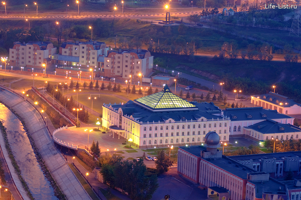 детский дом лицей Совмена фото с высоты Красноярск