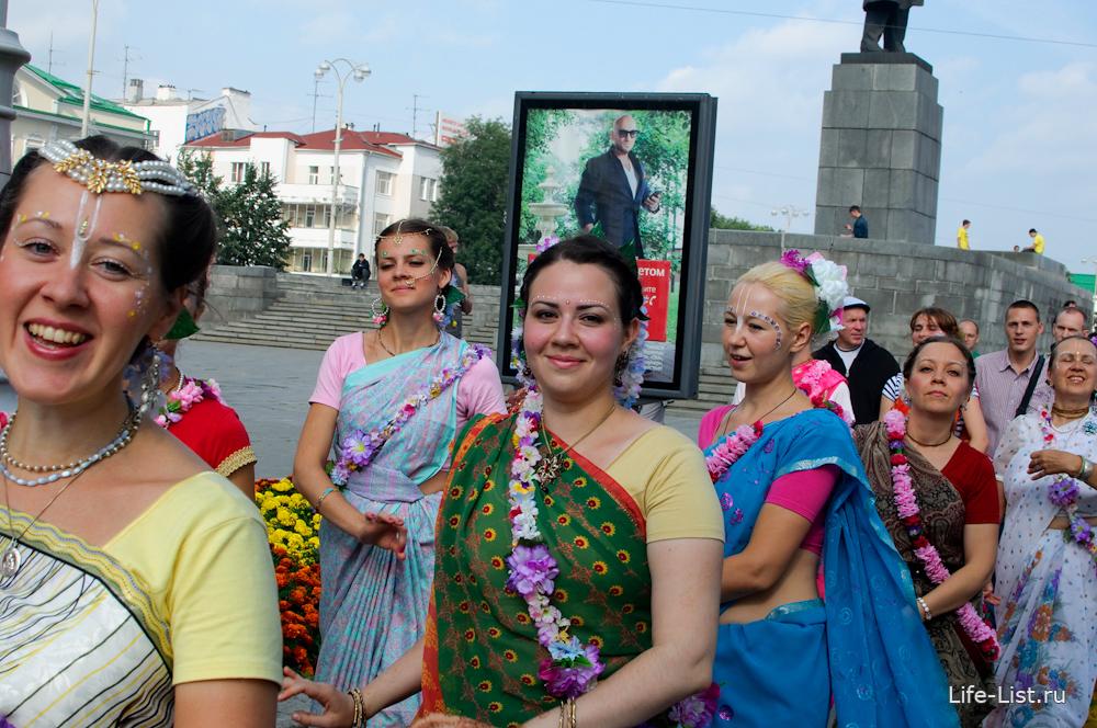 Кришнаиты в городе фото Виталий Караван