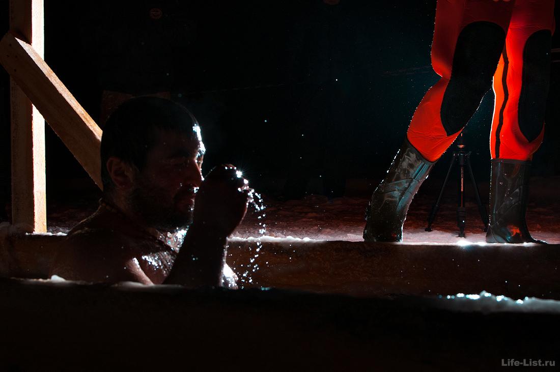 ночные крещенские купания озеро фото Виталий Караван
