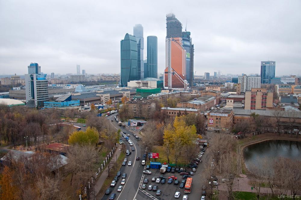 Москва с высоты. Нижняя Пресня экспоцентр москва сити