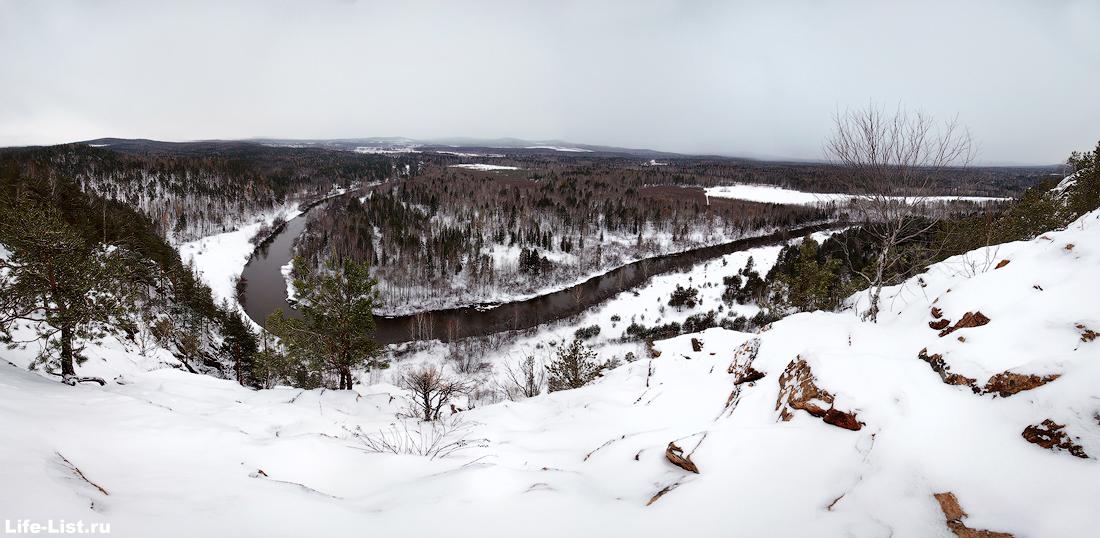 панорама вид с медведь камня река Тагил фото Виталий Караван
