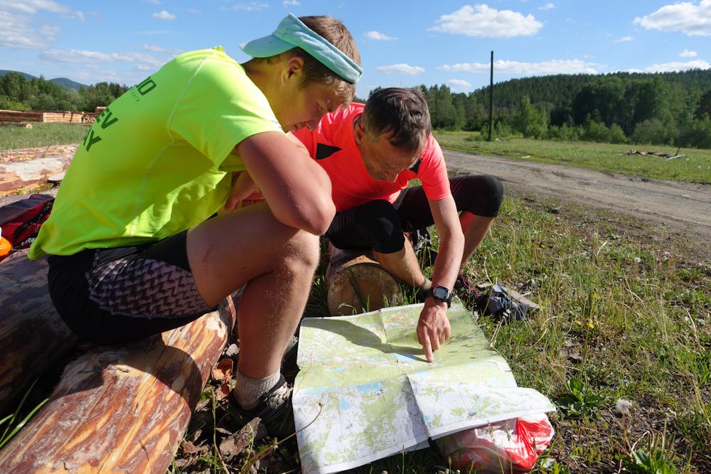 Беговая многодневка по Южному Уралу 2016 изучаем карту