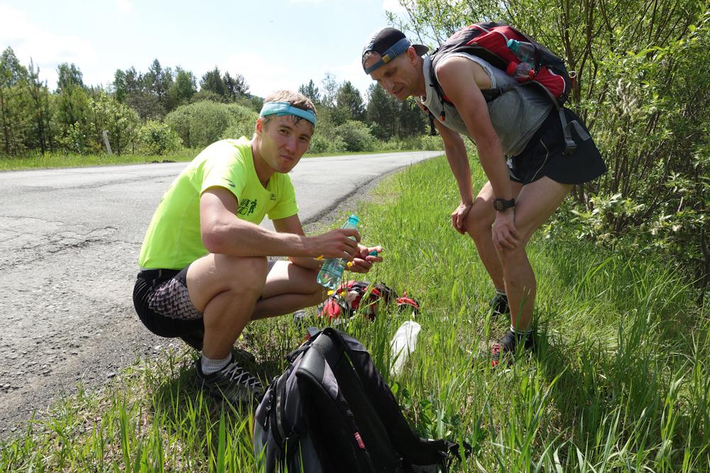 Беговая многодневка по Южному Уралу 2016 остановка на трассе