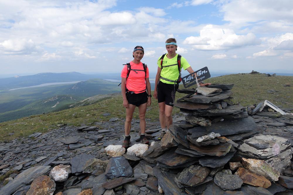 Беговая многодневка по Южному Уралу 2016 на вершине хребта Нургуш