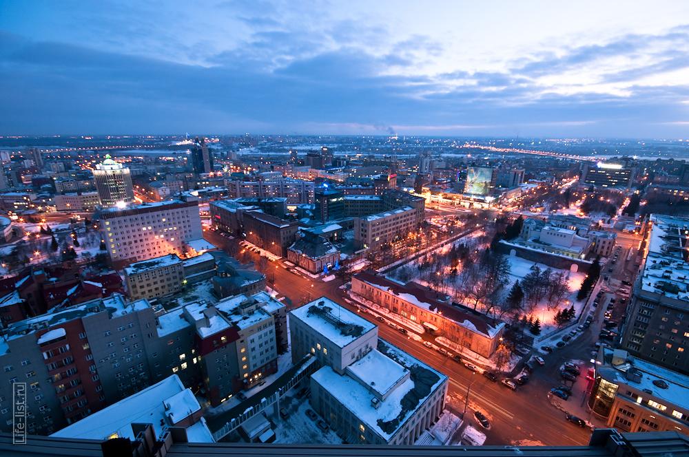 Центральная часть Новосибирска