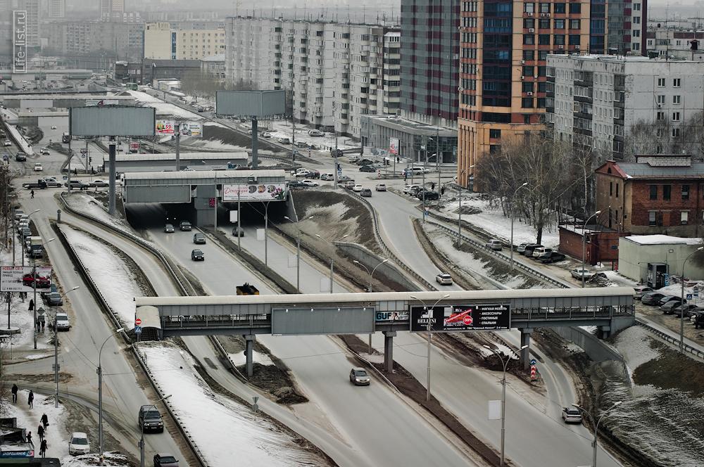 улица Иподромская с высоты Новосибирск