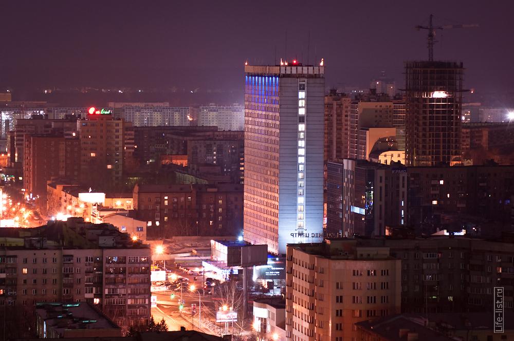 гостиница Новосибирск с высоты