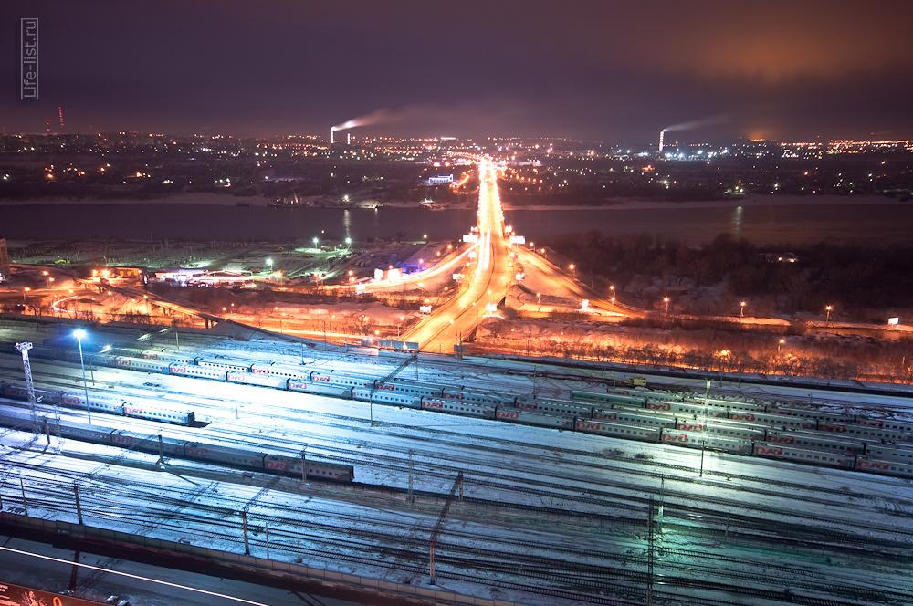 Вид на мост Димитровский Новосибирск