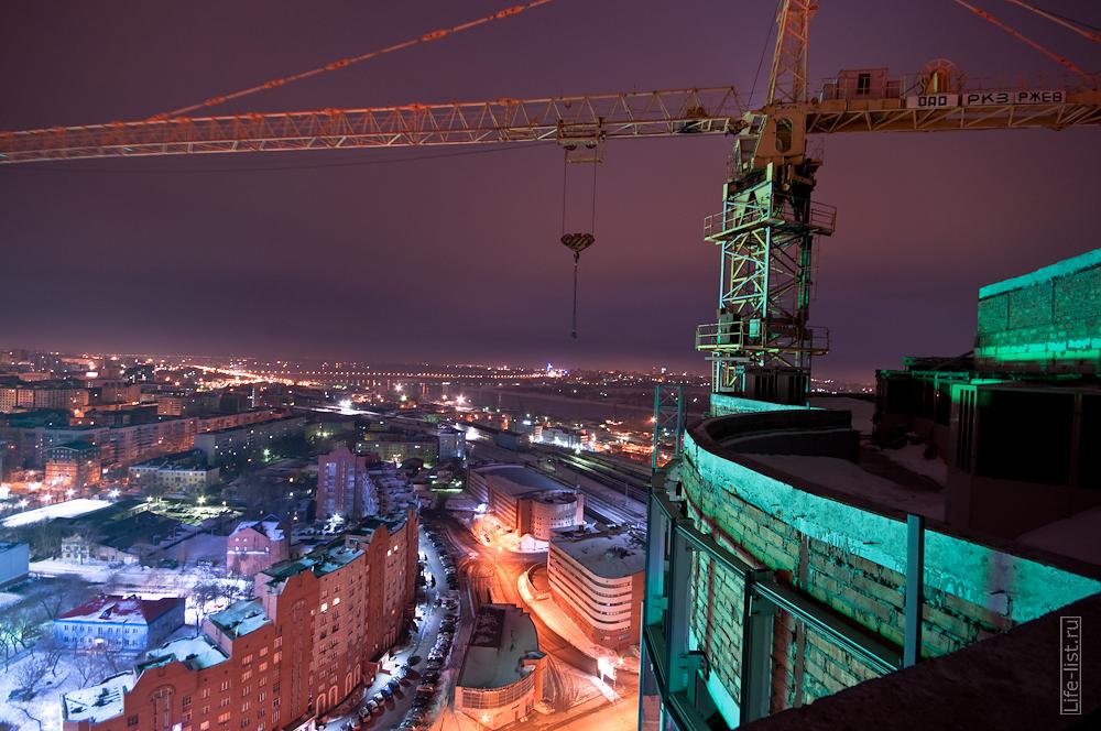 Вид с долгостроя Манхетен Новосибирск