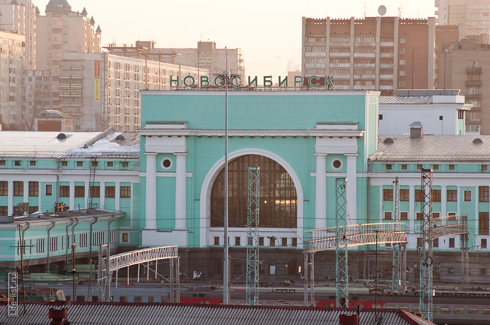 Новосибирск вокзал здание фото Виталий Караван