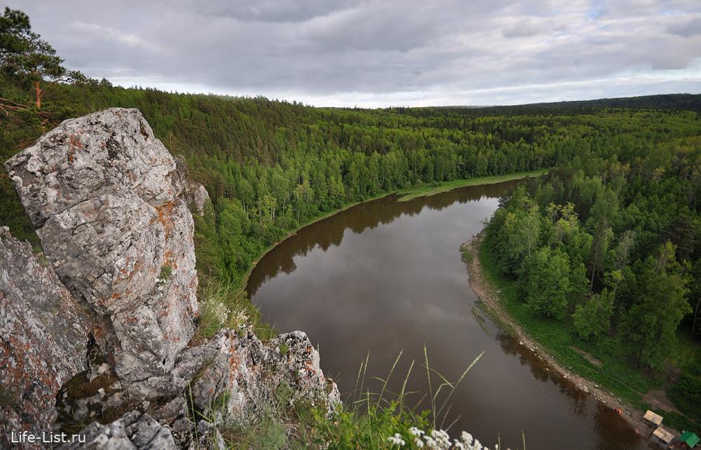 скалы на реке Чусовая