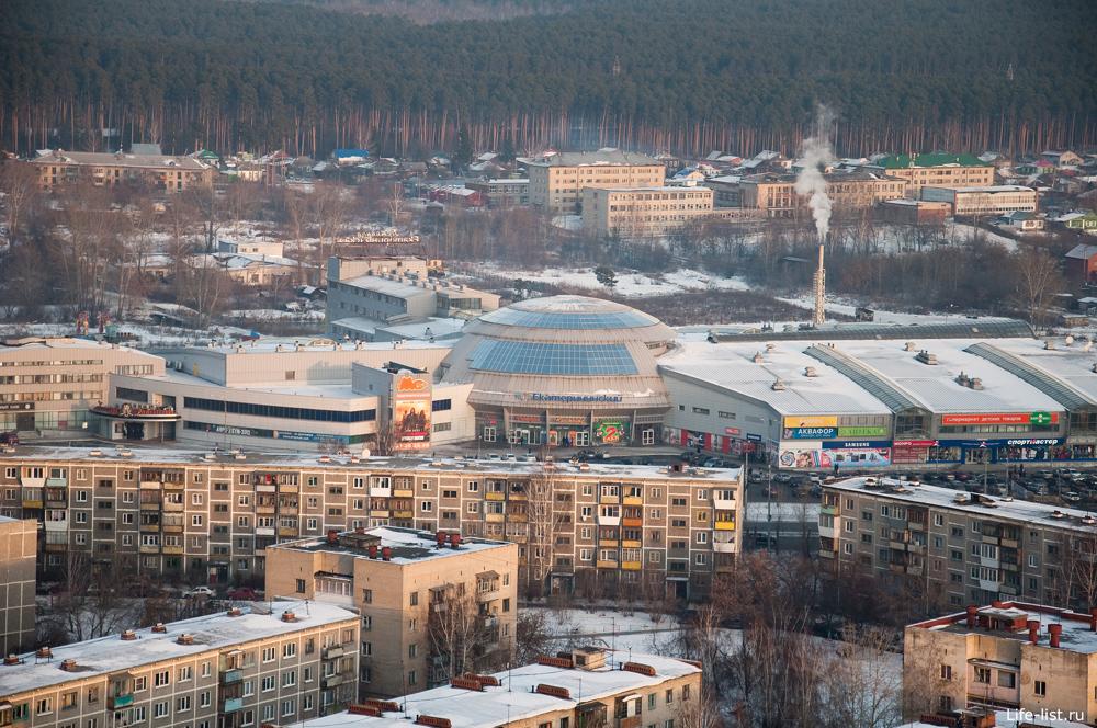 ТРЦ Екатерининский Екатеринбург с высоты