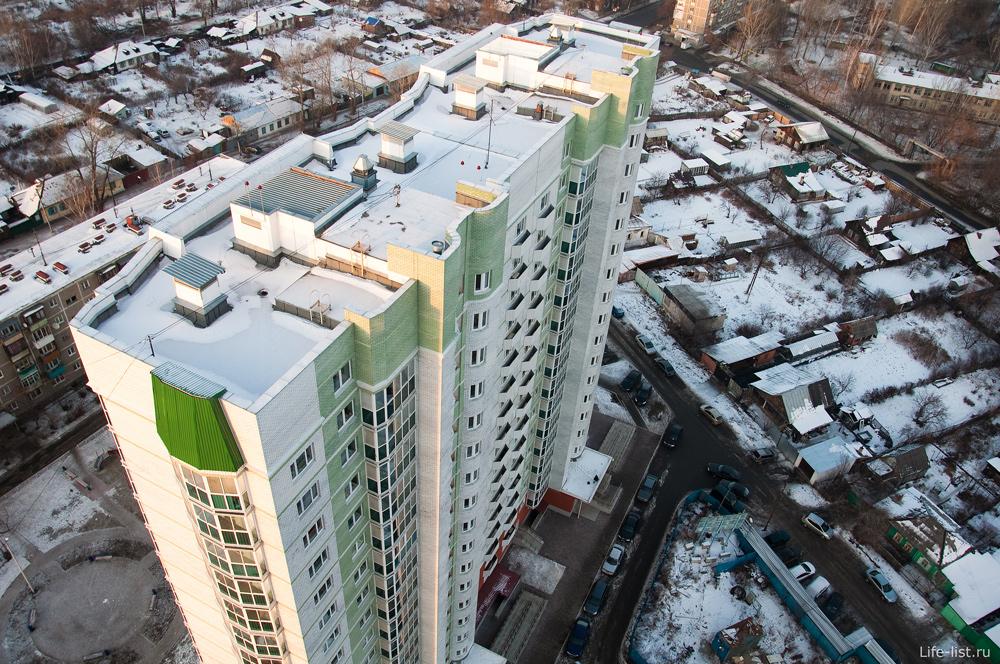 улица Павлодарская Екатеринбург с высоты
