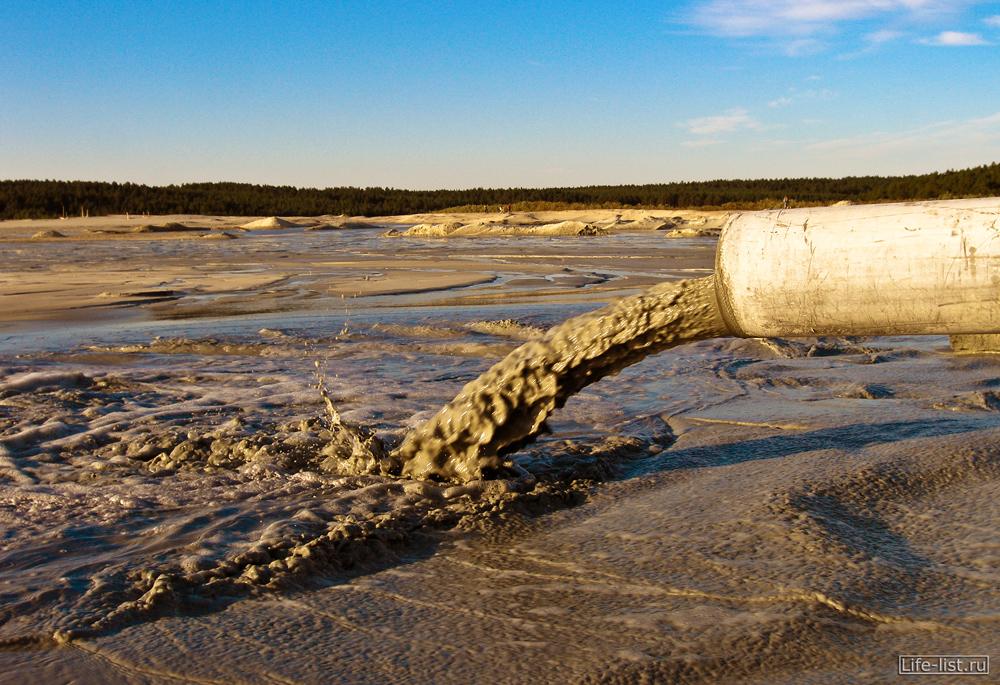 вода льет наружу березовские пески