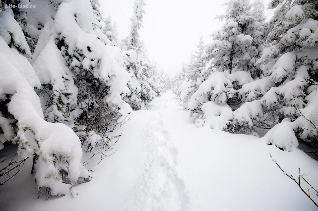 Гора Юрма Южный урал зима