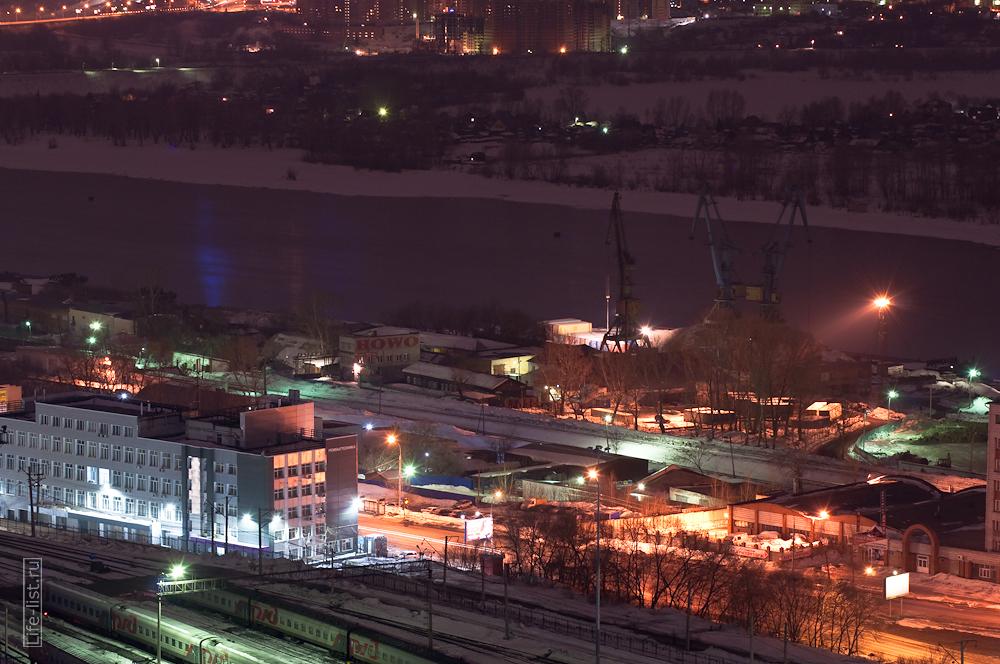 речной порт вид с высоты