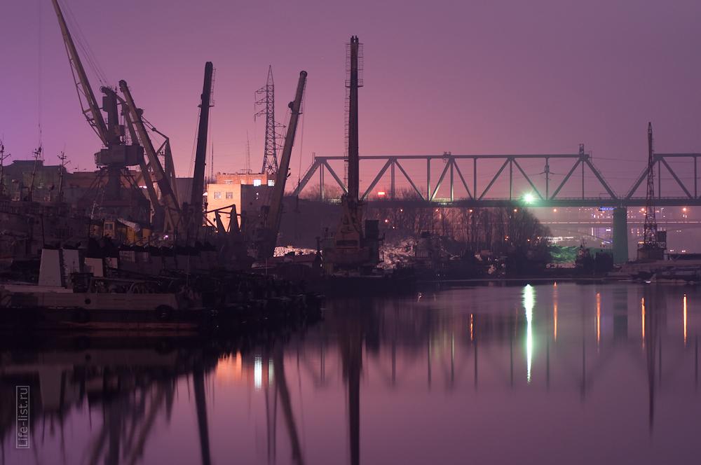 железнодорожный мост Новосибирск фото речной порт буксиры