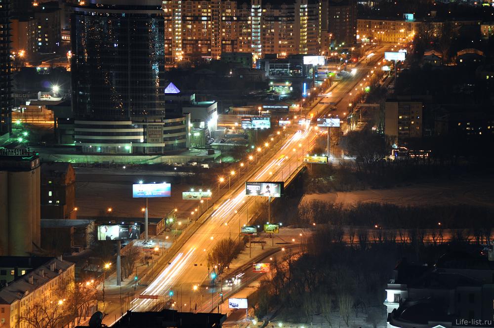 Екатеринбург Челюскинцев и Макаровский мост через Исеть