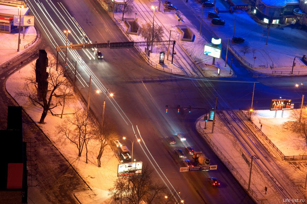 Екатеринбург Перекресток Челюскинцев-Свердлова