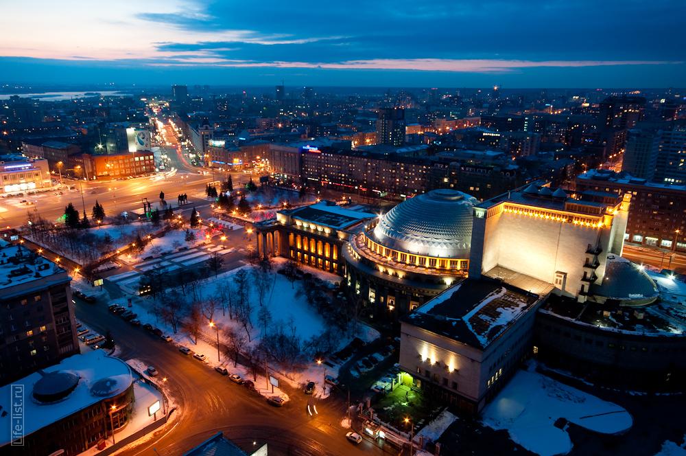Ночной новосибирск с высоты фото Виталий Караван