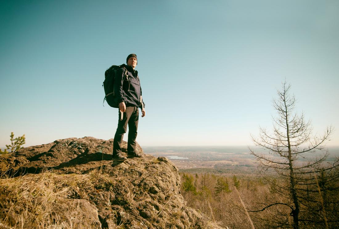 Поход с рюкзаком походник Виталий Караван