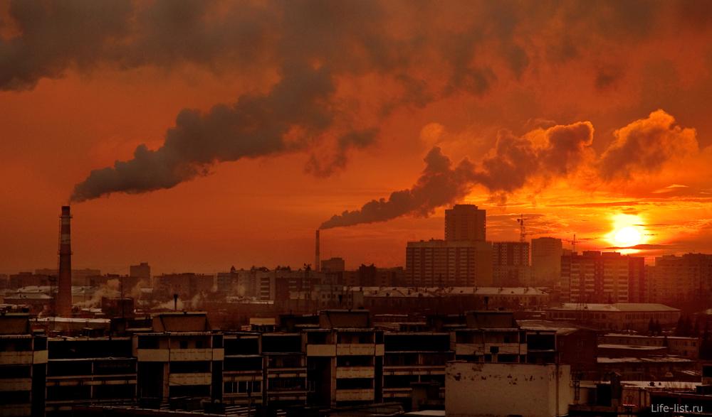 Закат над Екатеринбургом