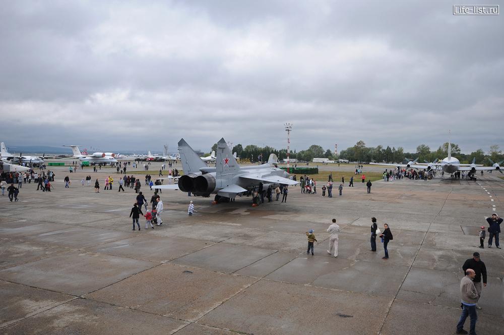 миг-31 самолет выставка в кольцо день города Екатеринбурга