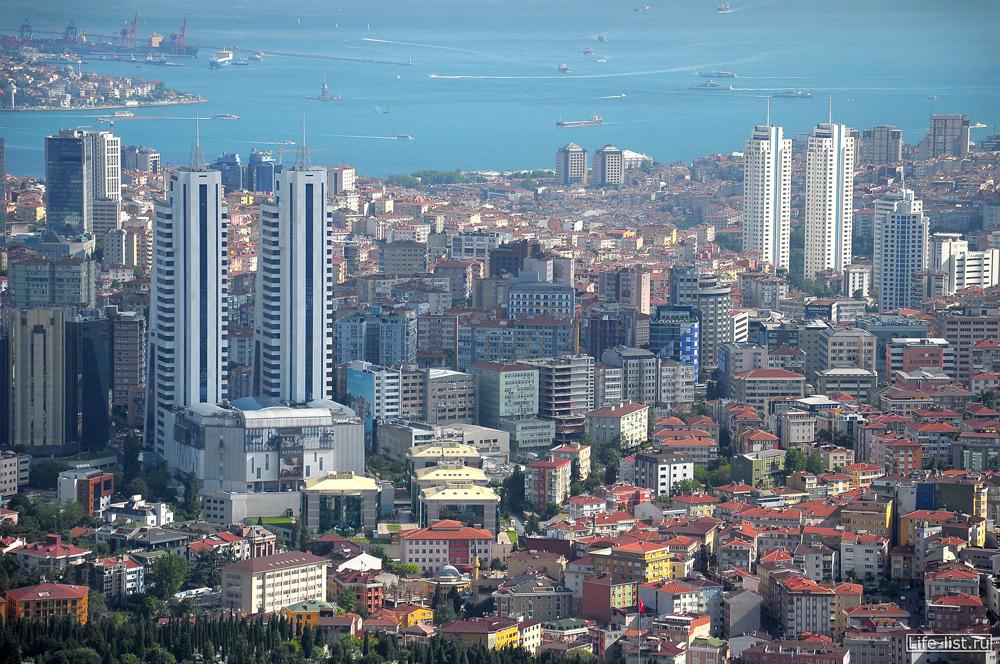 Вид на Босфор с высоты Стамбул