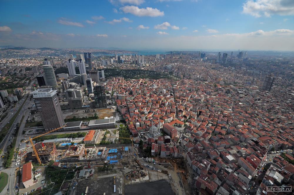 Вид с небоскреба Стамбул Сапфир