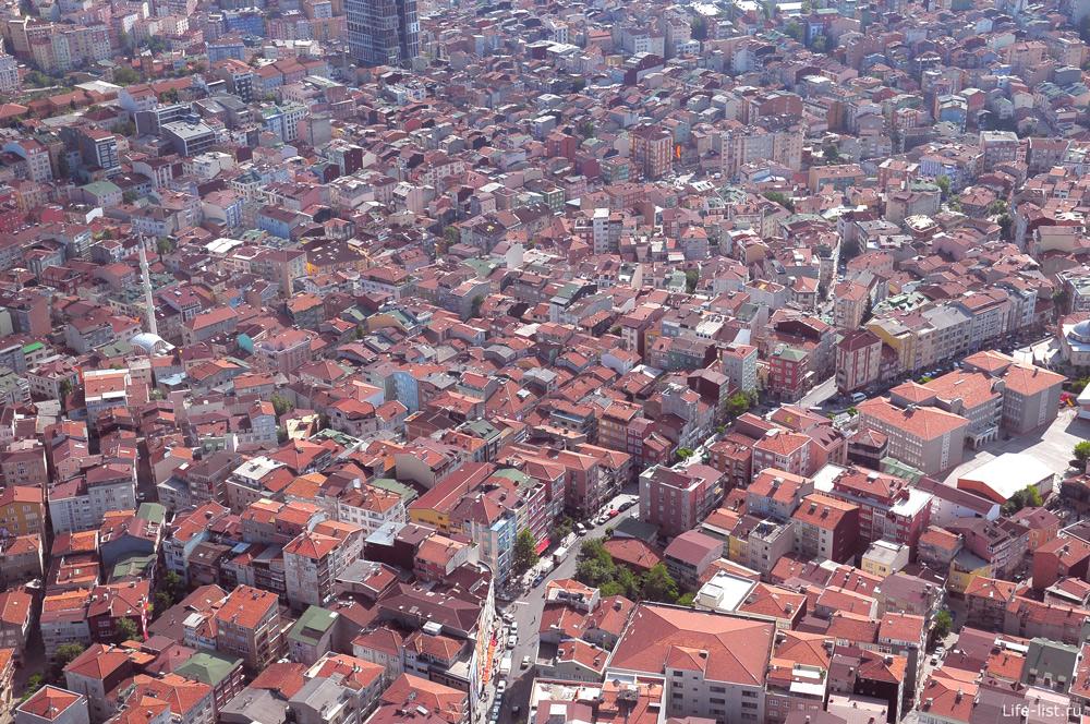 Турция вид с высоты в Стамбуле