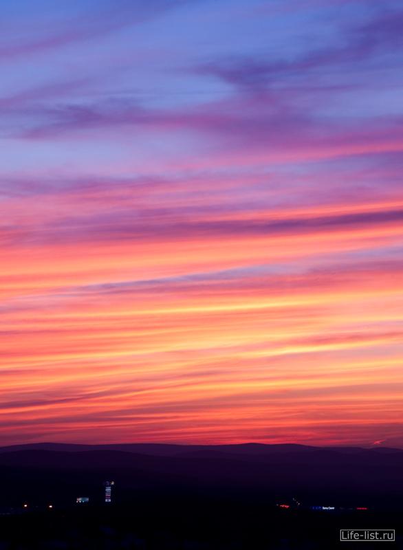 Красивый красный закат Екатеринбург
