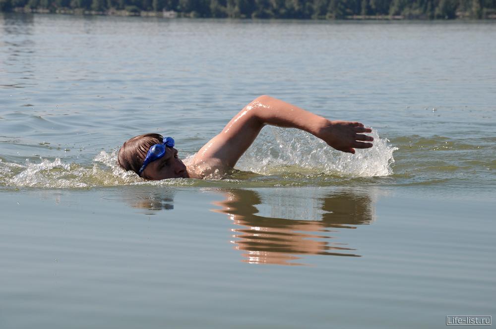 озеро Шарташ заплыв через озеро