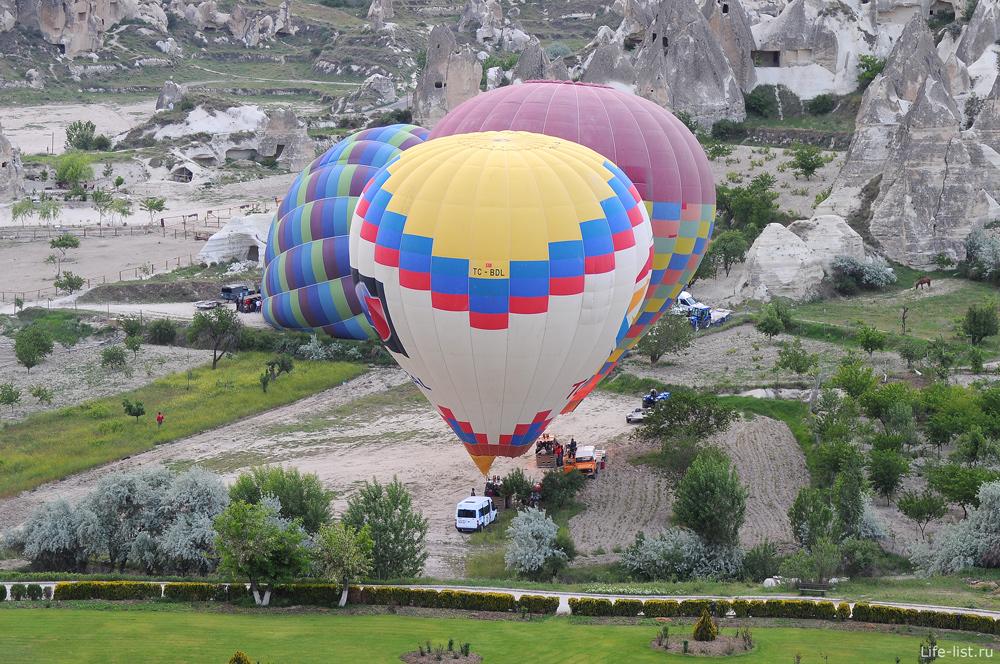 Взлет воздушного шара в Каппадокии