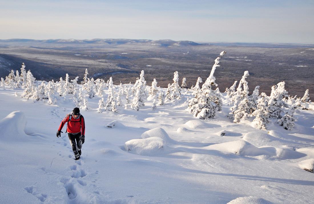 Восхождение на зимний Большой Шелом Южный Урал