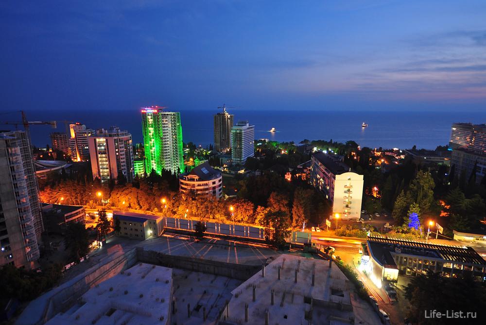 район цирка курортный проспект с высоты Сочи микрорайон Светлана