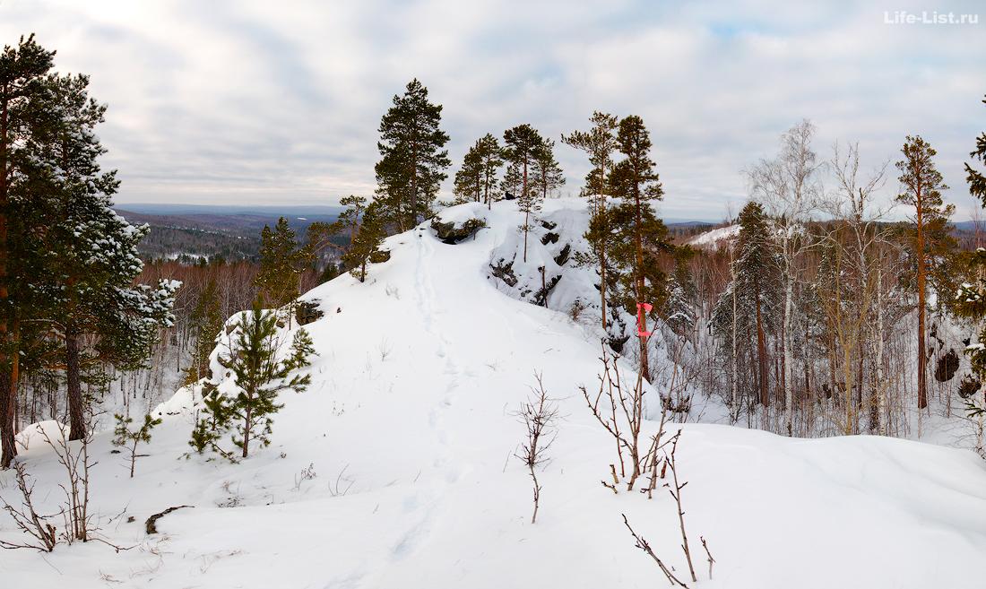 поход на скалы Соколий камень Полевской Урал фото Виталий Караван