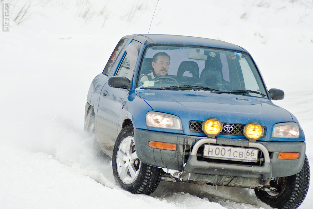 тойота заезд на время зимний спринт Березовский