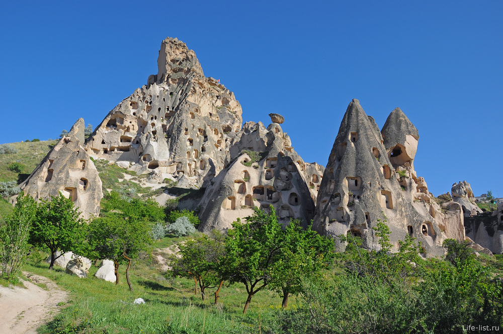 Скальные жилища в Каппадокии