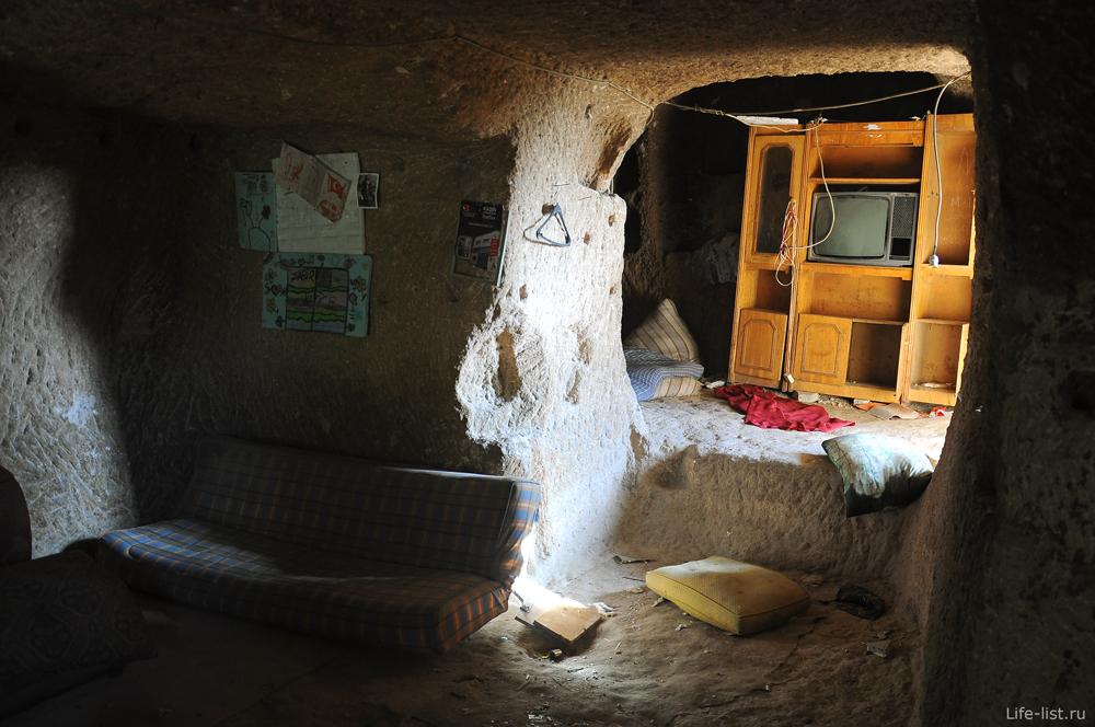 Бывшее жилище в скале в Каппадокии