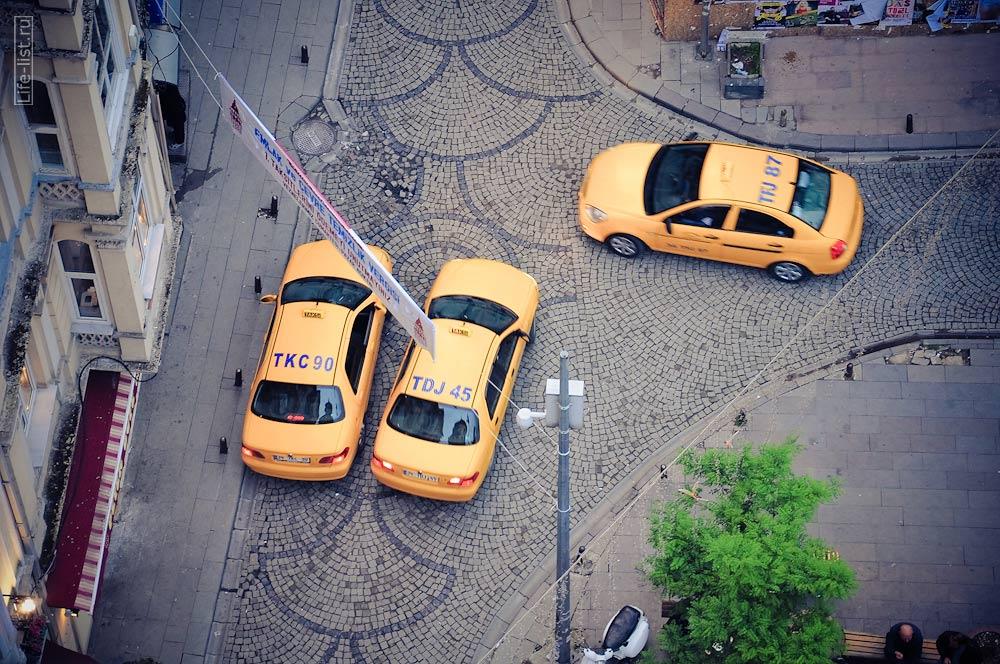 такси в Стамбуле с башни