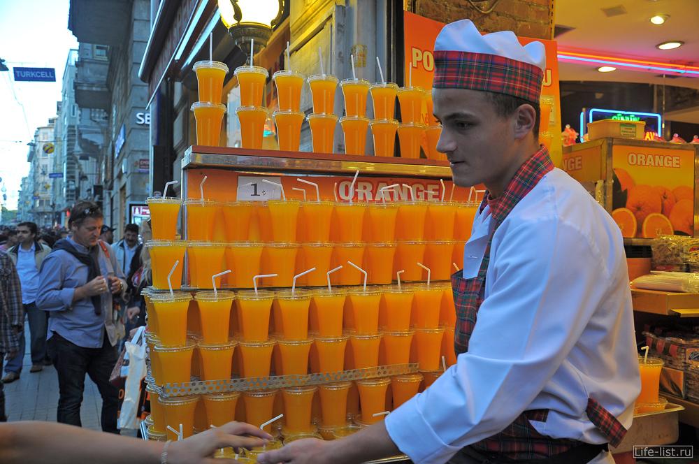 Продавец апельсинового сока