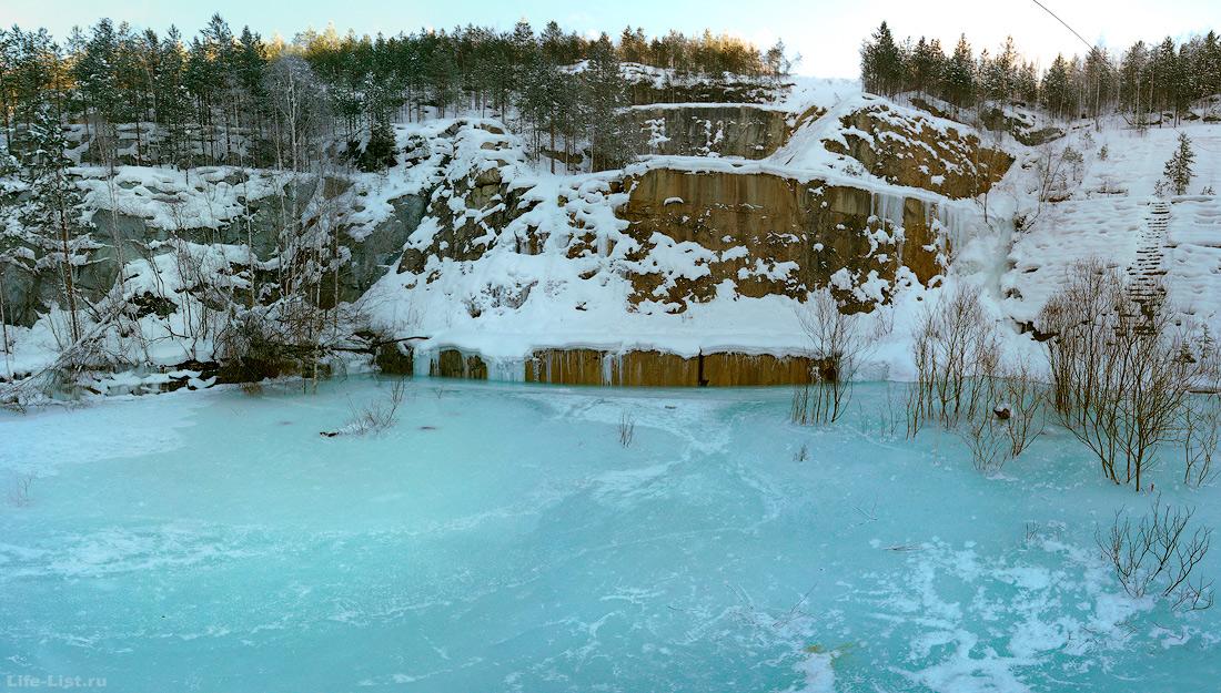 Затопленный карьер Старая линза Екатеринбург Зима 2017