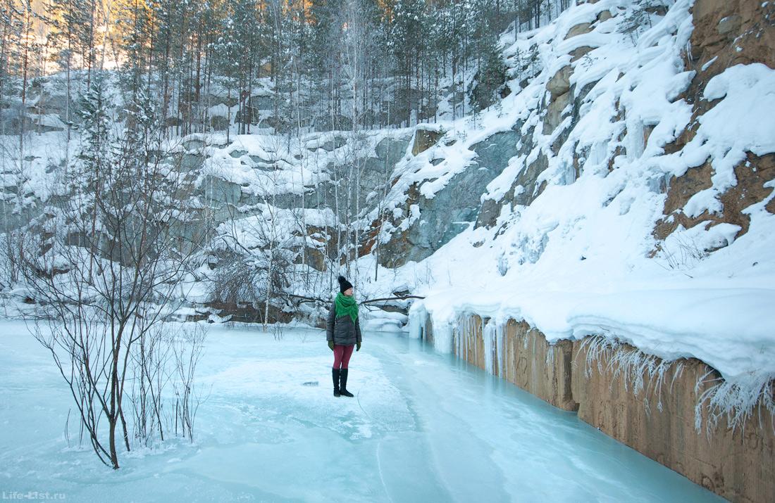 Затопленный карьер Старая линза зима 2017