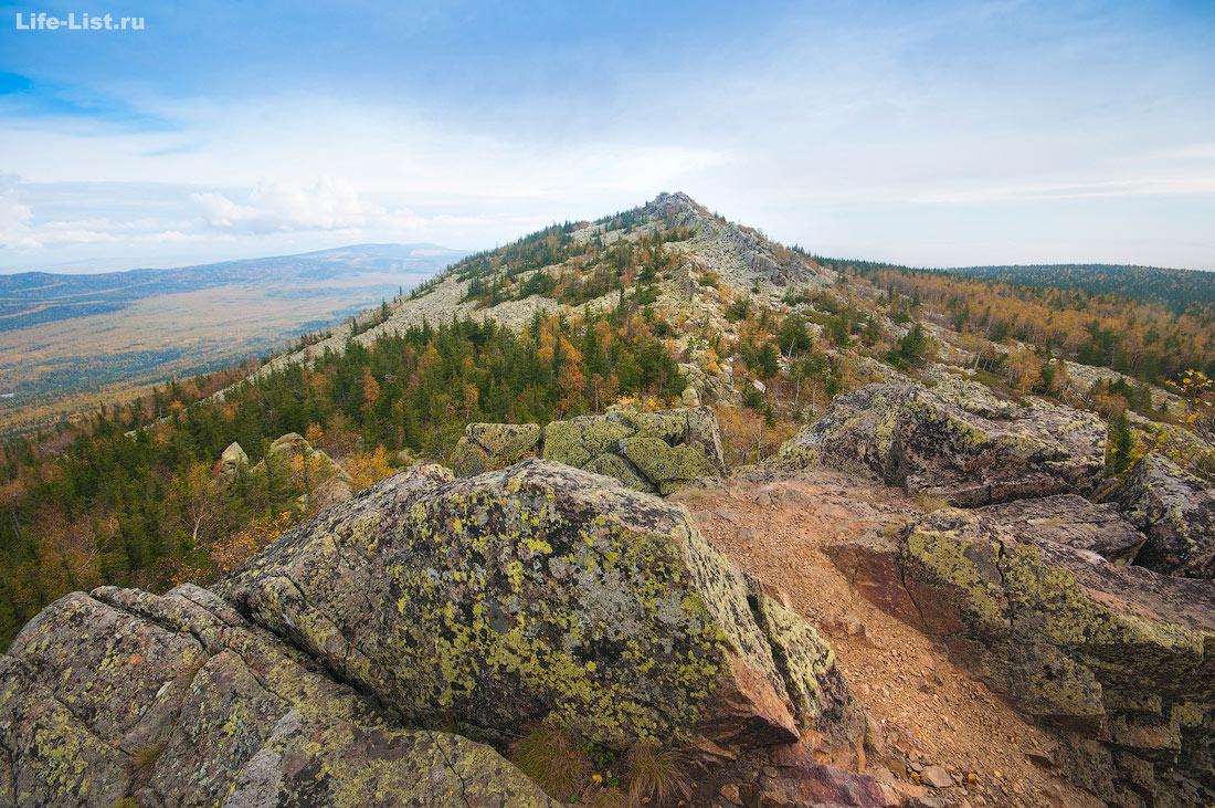вид с горы Ицыл Таганай Южный Урал