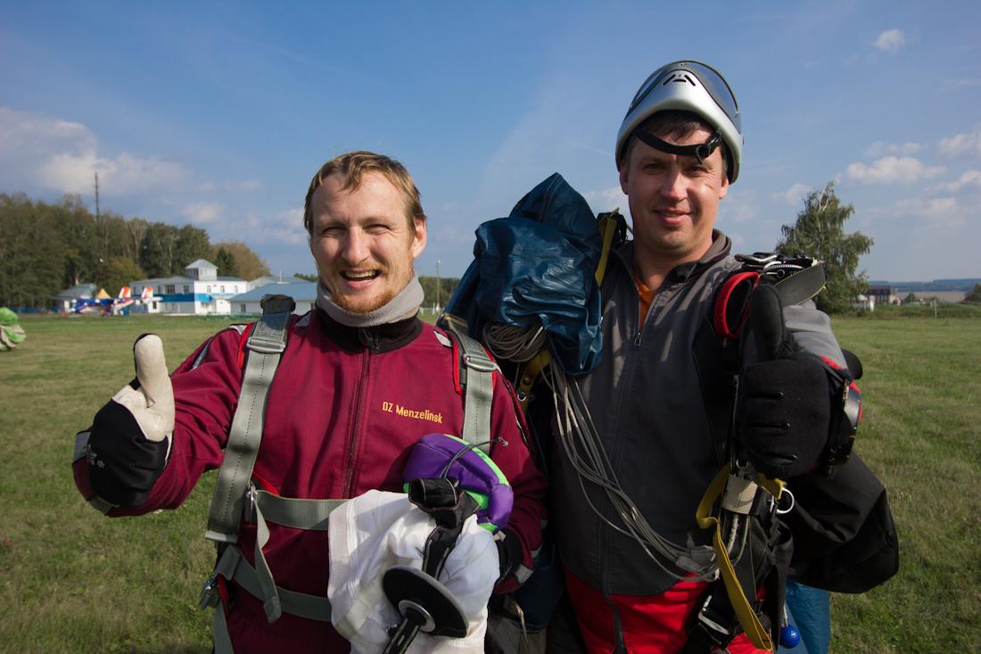 Виталий Караван прыжок с парашютом