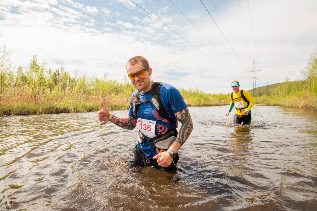 Ural Ultra-trail 2016 водная преграда