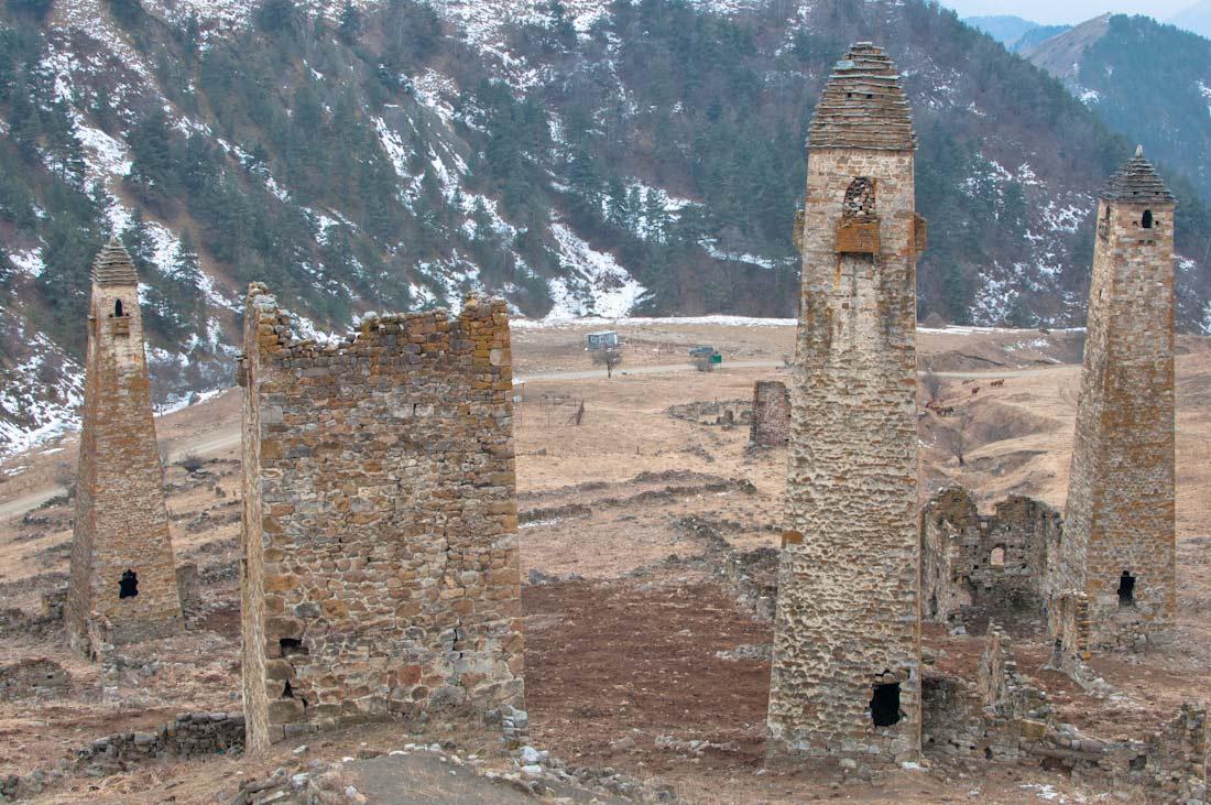 красивый башенный комплекс ингушетия кавказ фото