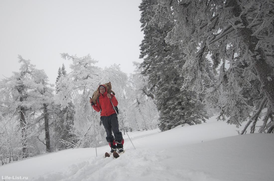 зимний поход на лыжах хребет Уреньга Златоуст