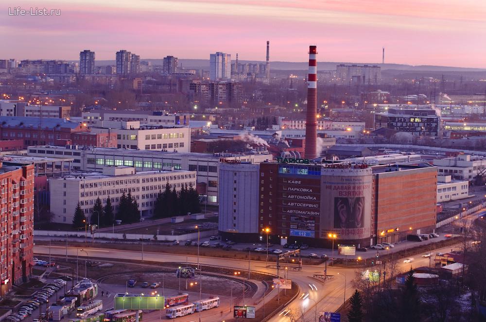 перекресток фурманова восточная утренний екатеринбург с высоты